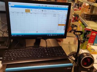 جهاز كاشير كامل مع البرنامج المحاسبى لمحلات الأجهزة الكهربائية و الأواني